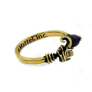 left of the Skeletor havoc Ring in gold from the masters of the universe jewelry collection