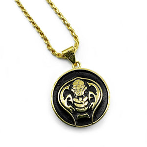 Cobra necklace, Gold Cobra Kai Necklace from Netflix Cobra Kai