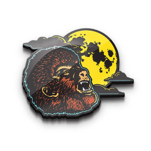 front of the wolfman enamel pin from the universal monsters collection