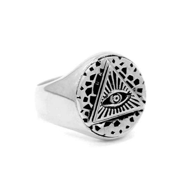 All Seeing Eye Ring Sterling Silver .925 / 9 Pm Rings