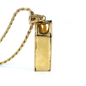 back view of the Arcade Machine Pendant in gold on a white background