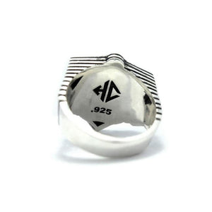 back of the Awoken Ring in silver from the han cholo alien collection