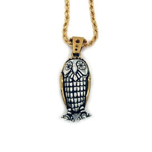 front of the Baby Bobo Owl Pendant from the han cholo fantasy collection