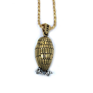 back of the Baby Bobo Owl Pendant from the han cholo fantasy collection