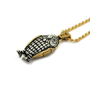 right angle of the Baby Bobo Owl Pendant from the han cholo fantasy collection