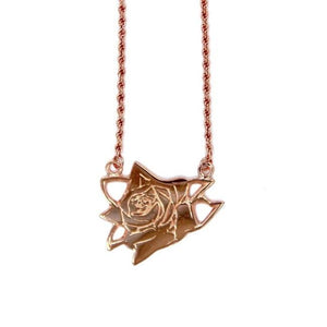 Rose Pendant , Rose Necklace, Rose gold Necklace, Sterling Silver necklace, 24k gold necklace