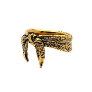 3/4 view of the Bandana Ring in gold from the han cholo precious metal collection