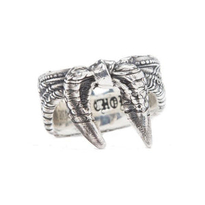 back of the Bandana Ring in silver from the han cholo precious metal collection