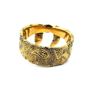 front of the Bandana Ring in gold from the han cholo precious metal collection