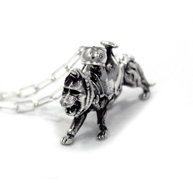 right side of the battlecat pendant from the masters of the universe collection