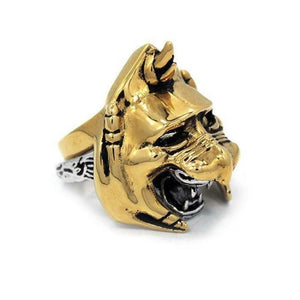 right side of the Battle Cat Ring from the masters of the universe collection