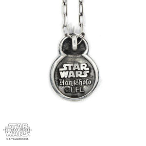 back of the bb8 pendant from the han cholo star wars collection