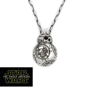 front view of the BB8 Pendant from the han cholo star wars collection