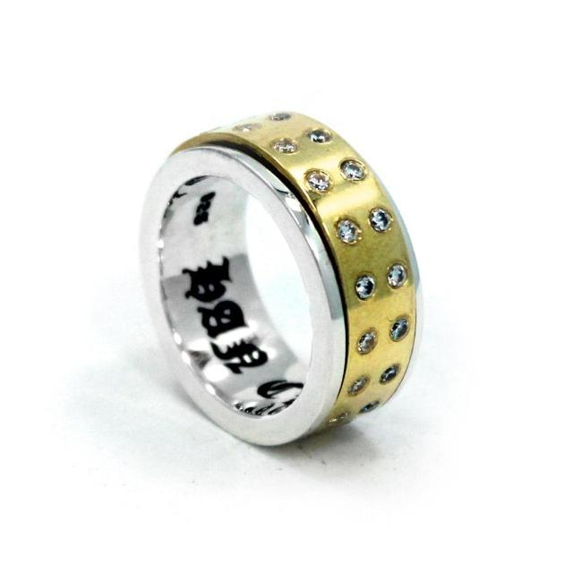 front of the Bearing Ring from the han cholo precious metal rings collection