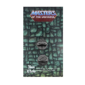 back of the beastman Enamel Pin on a masters of the universe pin card