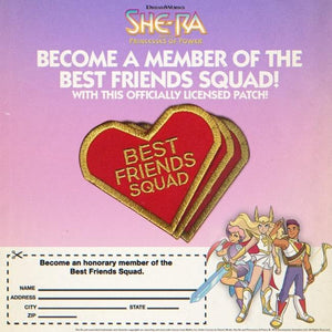 Best friends squad from she-ra and the princesses of power, Best friends squad patch vintage ad