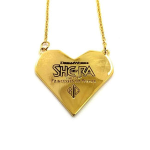 back view of the best friends squad pendant showing the she-ra logo and legal line below logo