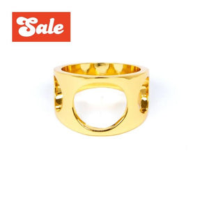Big 3 Hole Ring Gold / 9 Ss Rings
