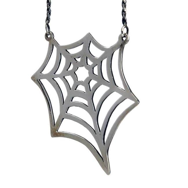 Big Spider Web Necklace Pm Necklaces