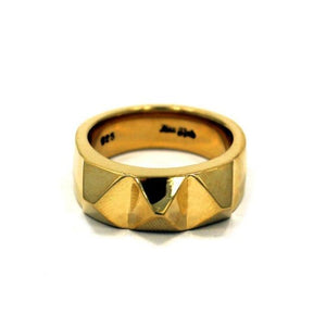 front of the Big Spike Ring in gold from the han cholo precious metal collection