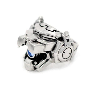 left side of the Blue Lion Ring from the han cholo voltron collection