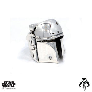 right angle of the Boba Fett Ring from the han cholo star wars collection