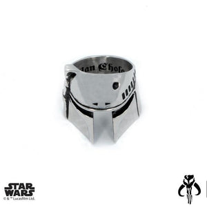 top view of the Boba Fett Ring from the han cholo star wars collection
