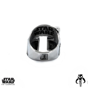 back of the Boba Fett Ring from the han cholo star wars collection