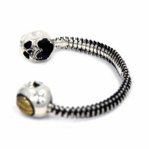 left side of the Brain Dead cuff from the han cholo skulls collection