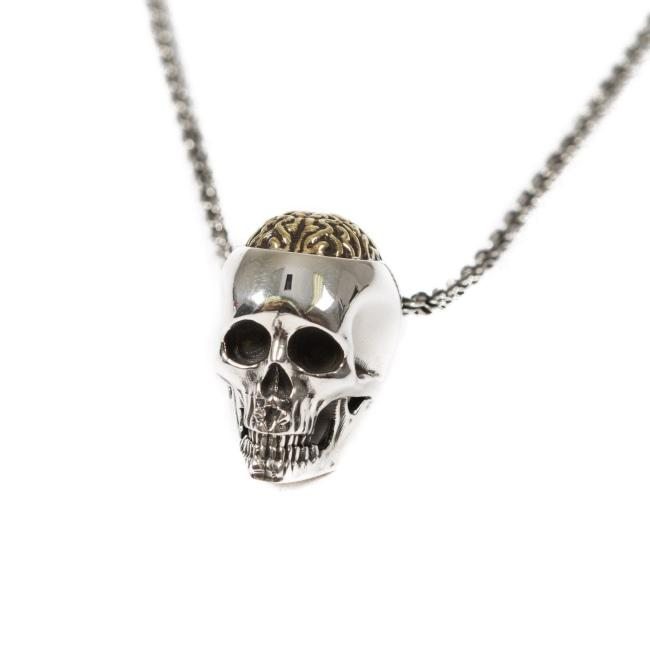 Brain Dead Pendant Silver W/ Gold Ss Necklaces