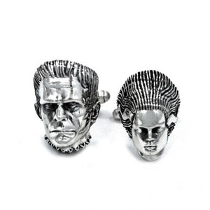 front shot of the Bride And Monster Cufflinks from the universal monsters collection