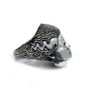 right side of the Bride Of Frankenstein Ring from the universal monsters jewelry collection