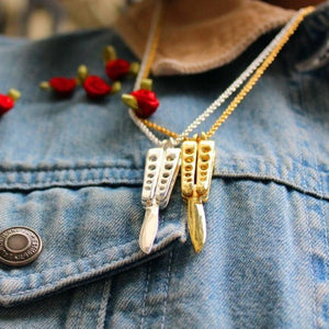 Butterfly Knife Pendant Ss Necklaces
