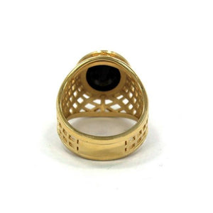 back of the Caged Class Ring in gold from the han cholo alien collection
