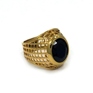 gold ring, gold class ring, onyx stone ring, mens ring with stone, gold ring, mens jewelry