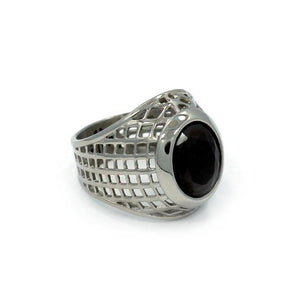 Caged Class Ring Ss Rings