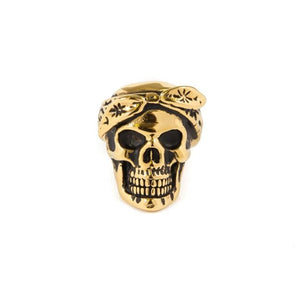 front of the Cali Love Ring in gold from the han cholo music collection