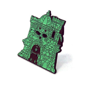 right of the castle grayskull enamel pin from the masters of the universe collection
