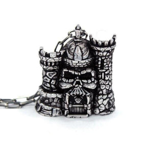 Castle Grayskull Pendant Sterling .925 / 24 Pm Necklaces