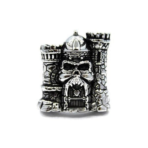 front of the Castle grayskull ring from the masters of the universe jewelry collection