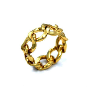 Chain Ring, Cuban link chain ring, han cholo jewelry, 2 chain ring, chain rings, chain jewelry