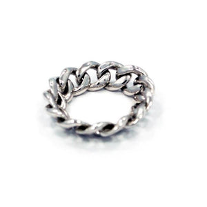 Chain Ring, chain jewelry, cuban link chain, mens chain ring, mens chain jewelry, han cholo ring