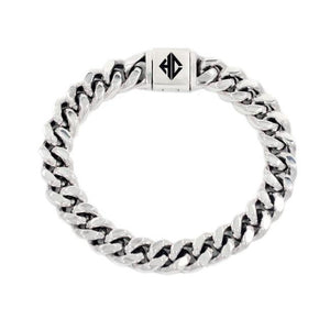 shot of the Classified Chain Bracelet in silver from the han cholo alien collection