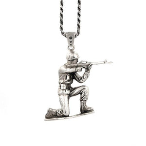 Cover Fire Army Man Pendant Pm Necklaces