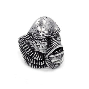 right side of the Creature From The Black Lagoon Ring from the universal monsters collection.