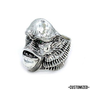 classic monster ring, monster jewelry, gillman ring, gillman jewelry, gill man
