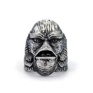 Creature From The Black Lagoon Ring Silver / 9 Ss Rings