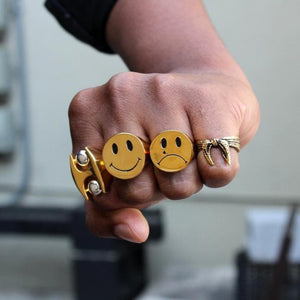 Cry Later Ring, sad face ring, sad boy, sad girl, han cholo ring, han cholo jewelry