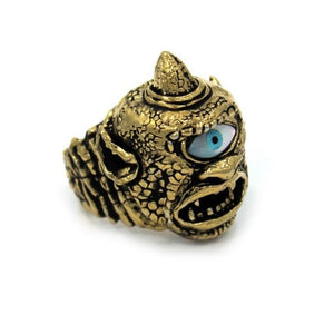 left side of the Cyclops Ring in gold from the han cholo fantasy collection