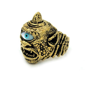 right side of the Cyclops Ring in gold from the han cholo fantasy collection